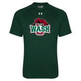Under Armour Dark Green Tech Tee-Wash U w/Bear