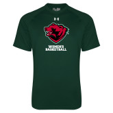 Under Armour Dark Green Tech Tee-Womens Basketball