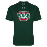 Under Armour Dark Green Tech Tee-Wash U
