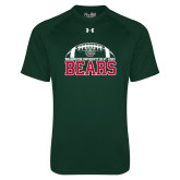 Under Armour Dark Green Tech Tee-Football Stacked