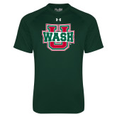 Under Armour Dark Green Tech Tee-WashU