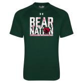 Under Armour Dark Green Tech Tee-Bear Nation