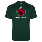 Under Armour Dark Green Tech Tee-Womens Soccer