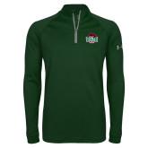 Under Armour Dark Green Tech 1/4 Zip Performance Shirt-Wash U w/Bear