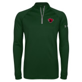 Under Armour Dark Green Tech 1/4 Zip Performance Shirt-Bear Head