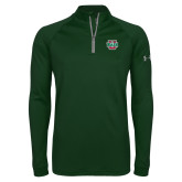 Under Armour Dark Green Tech 1/4 Zip Performance Shirt-WashU