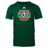 Adidas Dark Green Logo T Shirt-WashU