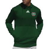 Adidas Dark Green Team Issue Hoodie-WashU
