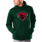 Under Armour Dark Green Armour Fleece Hoodie-Bear Head