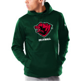 Under Armour Dark Green Armour Fleece Hoodie-Football
