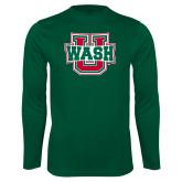 Performance Dark Green Longsleeve Shirt-Wash U