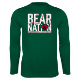 Performance Dark Green Longsleeve Shirt-Bear Nation