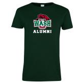 Ladies Dark Green T Shirt-Alumni