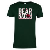 Ladies Dark Green T Shirt-Bear Nation
