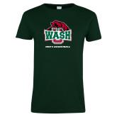 Ladies Dark Green T Shirt-Mens Basketball