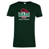 Ladies Dark Green T Shirt-Cross Country