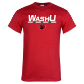 Red T Shirt-WashU Stacked