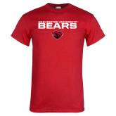 Red T Shirt-Washington University Bears Stacked