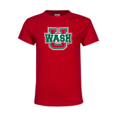 Youth Red T Shirt-Wash U