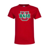 Youth Red T Shirt-WashU