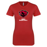 Next Level Ladies SoftStyle Junior Fitted Red Tee-Mens Basketball