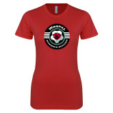Next Level Ladies SoftStyle Junior Fitted Red Tee-Womens Soccer Design