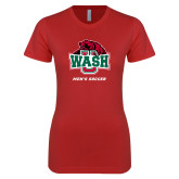 Next Level Ladies SoftStyle Junior Fitted Red Tee-Mens Soccer