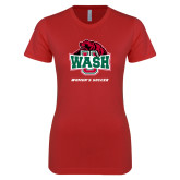Next Level Ladies SoftStyle Junior Fitted Red Tee-Womens Soccer