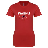 Next Level Ladies SoftStyle Junior Fitted Red Tee-Basketball Bar