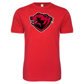 Next Level SoftStyle Red T Shirt-Bear Head