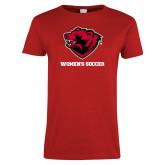 Ladies Red T Shirt-Womens Soccer