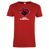Ladies Red T Shirt-Mens Basketball