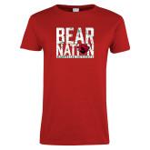Ladies Red T Shirt-Bear Nation