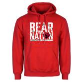 Red Fleece Hoodie-Bear Nation
