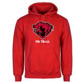 Red Fleece Hoodie-Football