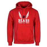 Red Fleece Hoodie-Track and Field Design