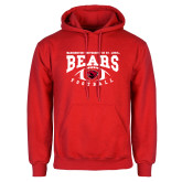 Red Fleece Hoodie-Football Design