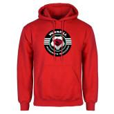 Red Fleece Hoodie-Womens Soccer Design