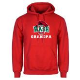 Red Fleece Hoodie-Grandpa