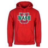 Red Fleece Hoodie-WashU