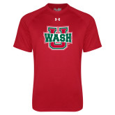 Under Armour Red Tech Tee-Wash U