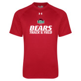 Under Armour Red Tech Tee-Track and Field Text