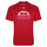 Under Armour Red Tech Tee-Football Stacked