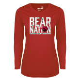Ladies Syntrel Performance Red Longsleeve Shirt-Bear Nation