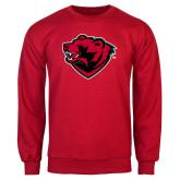 Red Fleece Crew-Bear Head