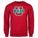 Red Fleece Crew-WashU