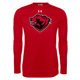Under Armour Red Long Sleeve Tech Tee-Bear Head