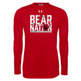 Under Armour Red Long Sleeve Tech Tee-Bear Nation