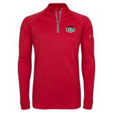 Under Armour Red Tech 1/4 Zip Performance Shirt-Wash U w/Bear