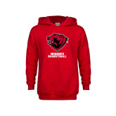 Youth Red Fleece Hoodie-Womens Basketball